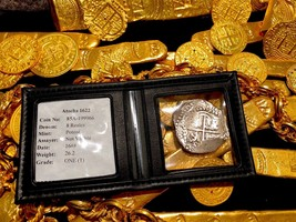 "ATOCHA 1622 8 REALES 16XX ""GRADE 1"" MEL FISHER COA SILVER PIRATE TREASUR... - $3,450.00"