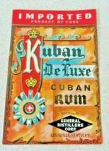 Kuban De Luxe Rum, General Distillers Corp. Louisville KY Co label - $20.21