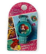 Little Mermaid Girls Watch Flashing LCD Wristwatch Disney Princess Gift - $14.99
