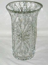 Anchor Hocking Medallion (Star & Cameo) Pattern Clear 7-inch Vase (1991 FTD) - $14.80