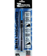 Zebrite Double Ended Highlighter Carded Blue NEW Medium & Fine No Bleed ... - $7.76