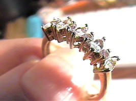 Natural GOSHENITE Sterling silver 925 Goshenite Beryl ring band 7 delica... - £40.41 GBP