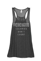 Thread Tank Vacation Calories Don't Count Women's Sleeveless Flowy Racerback Tan - $24.99+