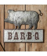Country BAR-B-Q METAL SIGN PLAQUE Rustic Farmhouse Country Retro Reproduction - £38.07 GBP
