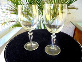 Set of 2 American Stemware High Quality Clear Crystal Wine Glasses - $24.74
