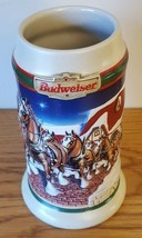 1998 BUDWEISER Christmas Grant's Farm Holiday Beer Stein - $13.99