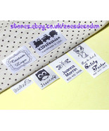 30x Custom clothes logo label sew in hanging tag fabric garment Personal... - $7.86