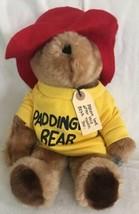 "Vintage EDEN 1981 Plush Paddington Bear Brown Teddy Yellow Sweatshirt 14"" - $16.99"