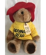 "Vintage EDEN 1981 Plush Paddington Bear Brown Teddy Yellow Sweatshirt 14"" - $16.82"