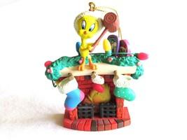 Looney Tunes Warner Bros Tweety on Fireplace Christmas Tree Ornament Mat... - $7.99