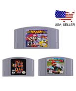 N64 Game Mario,Smash Bros,Kart Video Game Cartridge Console Card Free Sh... - $28.04+