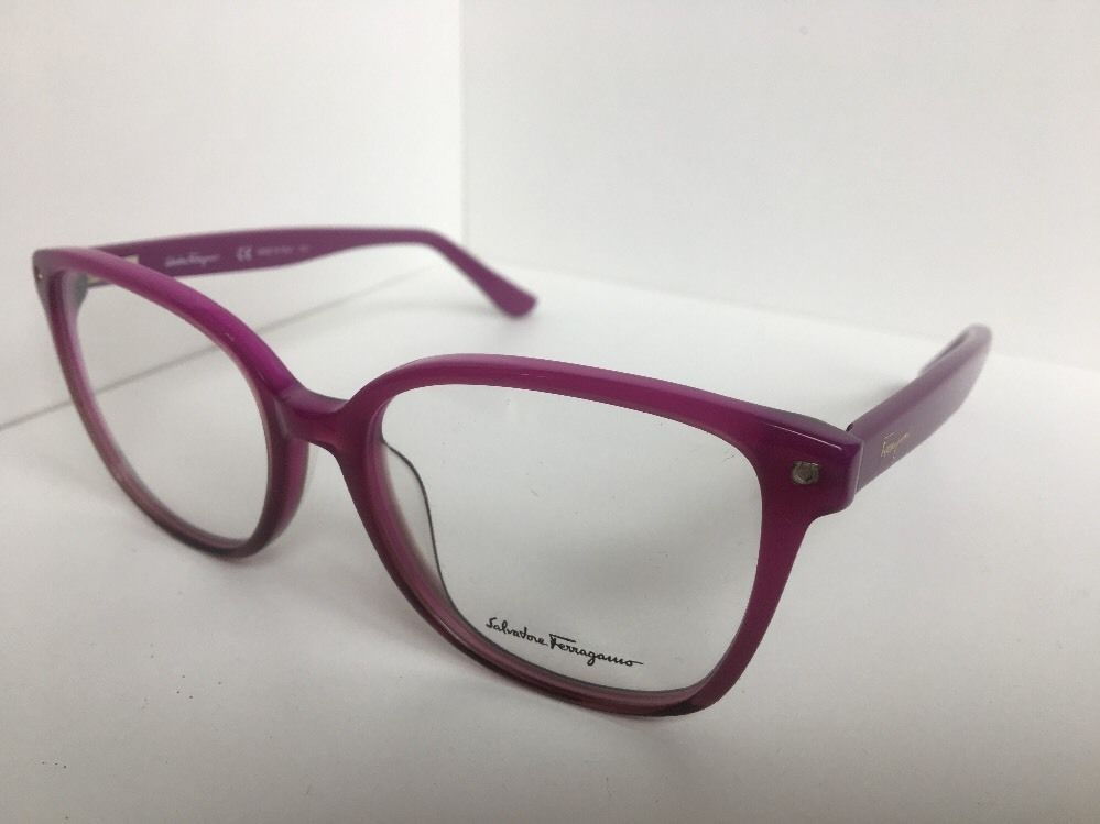 3578759d12 New Salvatore Ferragamo SF 2732 SF2732 527 53mm Berry Rx Eyeglasses Frame  Italy