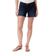 Big Star Denim Women's ALEX Short Mid Rise Frayed-Hem Topaz Wash NEW Shorts