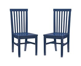 Linon Navy Set of 2 Houston Side Chair - $999.99