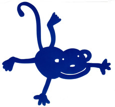 blue monkey  decal ideal cars, trucks, home etc easy to apply