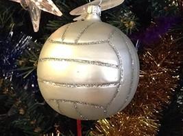 White Soccer Ball Blown Glass Ornament Old German Christmas