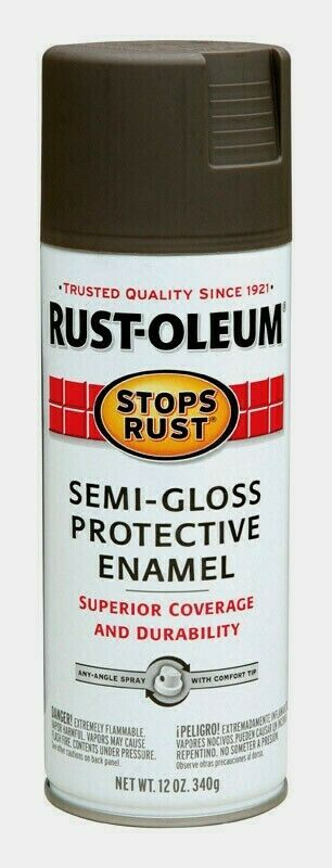 Primary image for Rust-Oleum Stops Rust BRONZE 12 oz. Spray SEMI-GLOSS Protective Enamel 7754-830