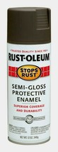 Rust-Oleum Stops Rust BRONZE 12 oz. Spray SEMI-GLOSS Protective Enamel 7754-830 - $14.99