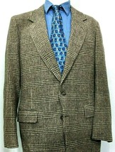 Arnie Wool Lambswool 42L Sport Coat Blazer Glen Check Brown Arnold Palme... - $43.40