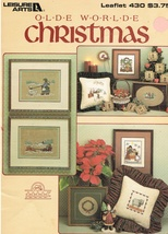 Leisure Arts Leaflet 430 Olde Worlde Christmas Cross Stitch Chart Patter... - $6.99