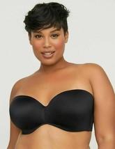 Catherines Multi-Way Strapless Bra Underwire Smooth Black Plus Choose Si... - $19.89