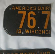 """1945 WISCONSIN License Plate Tab & 1942 License Plate, """"RARE"""" WW2 image 4"""