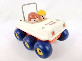 Fisher-Price Bouncing Buggy Car String Pull Toy Vintage 1973 6x6 Sand Bug - $9.99