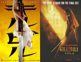 2 NEW Quentin Tarantino KILL BILL Vol 1 & 2 POSTERS Movie Uma Thurman 13x20 - $14.99