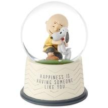 Hallmark Peanuts Happiness Is Someone Like You Snow Globe Charlie Brown ... - $57.77