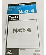BJU Math 4 Third Edition Reviews and Tests - $31.68