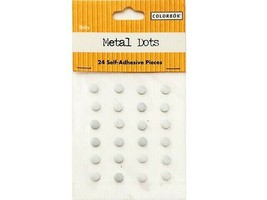 Colorbok Self-Adhesive Metal Dots, White, Stickers #38128