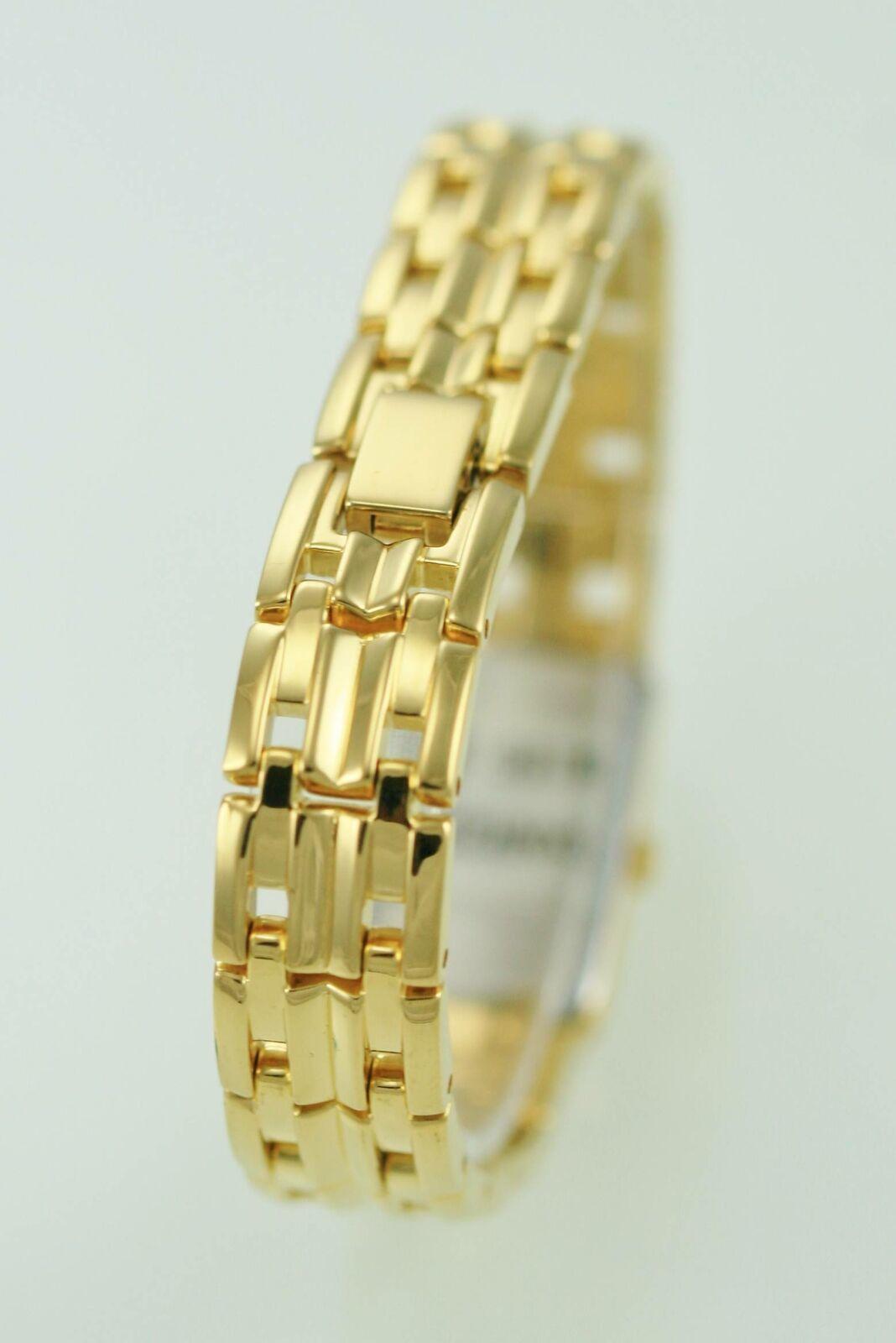 Seiko Womens Watch SXNR22 Gold Stainless Steel Water Resistant Beige Quartz
