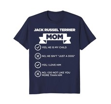 Dog Fashion - Jack Russel Terrier Mom Checklist Funny Dog Lover T-Shirt Men - $26.28 CAD+