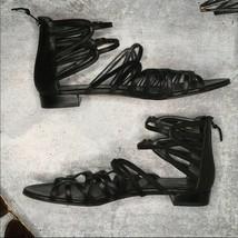 Stuart Weitzman Black Strap Low Heel Sandal Sz 10 - $53.35
