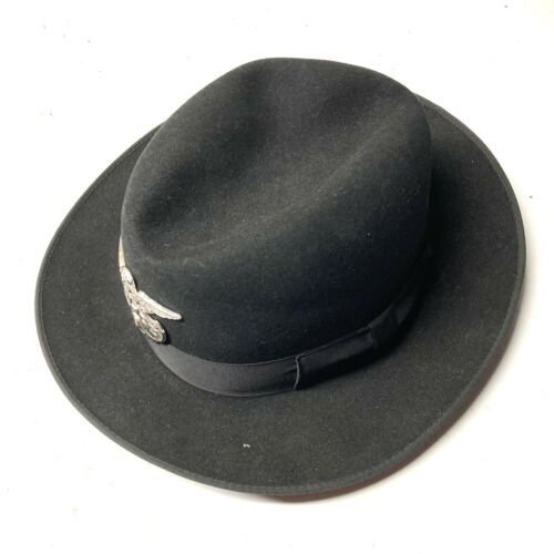 Primary image for Vintage Black Felt bowler hat Lord Calvert Bench Made 7 1/4 POLICE HTS