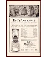 Bell's Seasoning Condiment Wm. G. Bell Boston 1923 Advertisement Kitchen... - $15.99