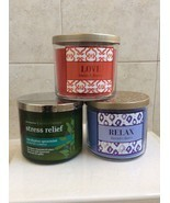 Bath Body Works 3 Wick Candle Set of 2, Mix or Match. - £30.66 GBP