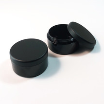 50 Cosmetic Jars Plastic Beauty Containers 30 Gram Ml Matte Black Lids #... - $88.95