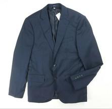 NEW HARDY AMIES NAVY BLUE TONAL MICRO CHECK 100% WOOL HEDDON SLIM BLAZER... - $148.49