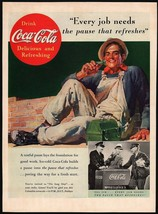 Vintage magazine ad COCA COLA from 1937 Every Job Needs working man pictured - $12.99
