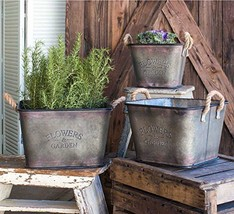 Flowers and Garden Bins, Set of 3 - $46.41