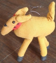 Gently Used Cloth Stuffed Christmas Reindeer Ornament - VGC  VERY CUTE O... - $6.92