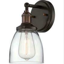 "Nuvo Lighting 60-5514 Vintage 1 Light 9-3/4"" Tall Wall Sconce - Bronze - $197.00"