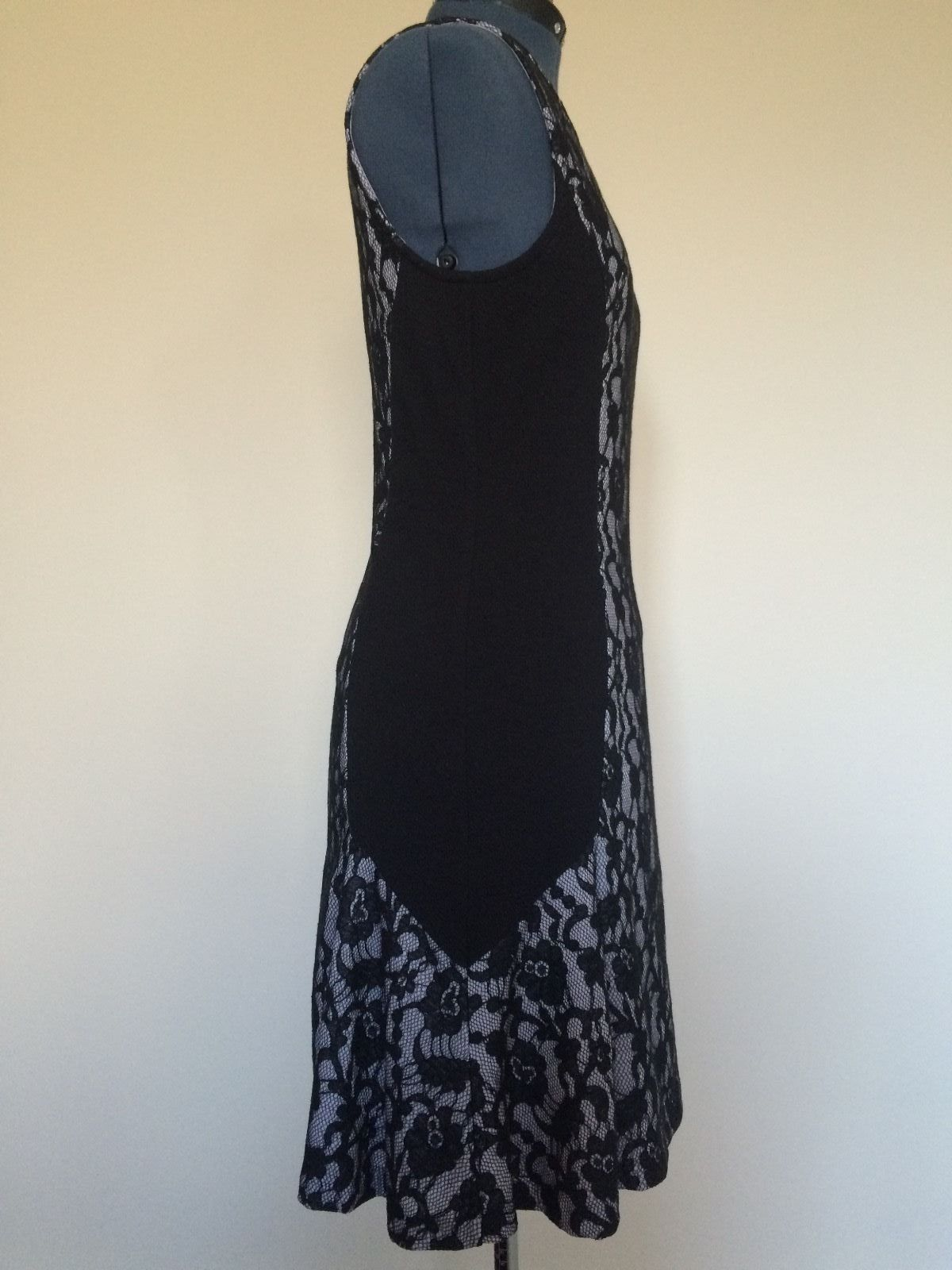 ANTHROPOLOGIE MAEVE Lace Dress Black & White Bodycon Sz.M