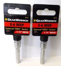 "GearWrench 80193 1/4"" Drive Deep External Torx Socket - E-6 2PCS - $3.96"