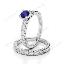 White Diamond 14k white Gold Plated 925 Sterling Silver Excellent Round ... - $124.99