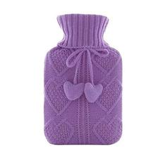 Heart Knit Washable Soft Cover Fashion Safe Hot Water Bottle Bag-A01 - $23.45