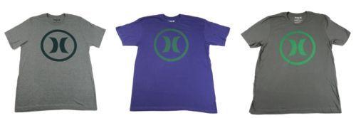 Hurley Men's Tee Shirt Circle Icon Logo T-Shirt Short Sleeve Crew Neck NEW