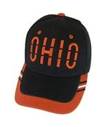 Ohio Window Shade Font Men's Adjustable Baseball Cap (Black/Red) - $12.95