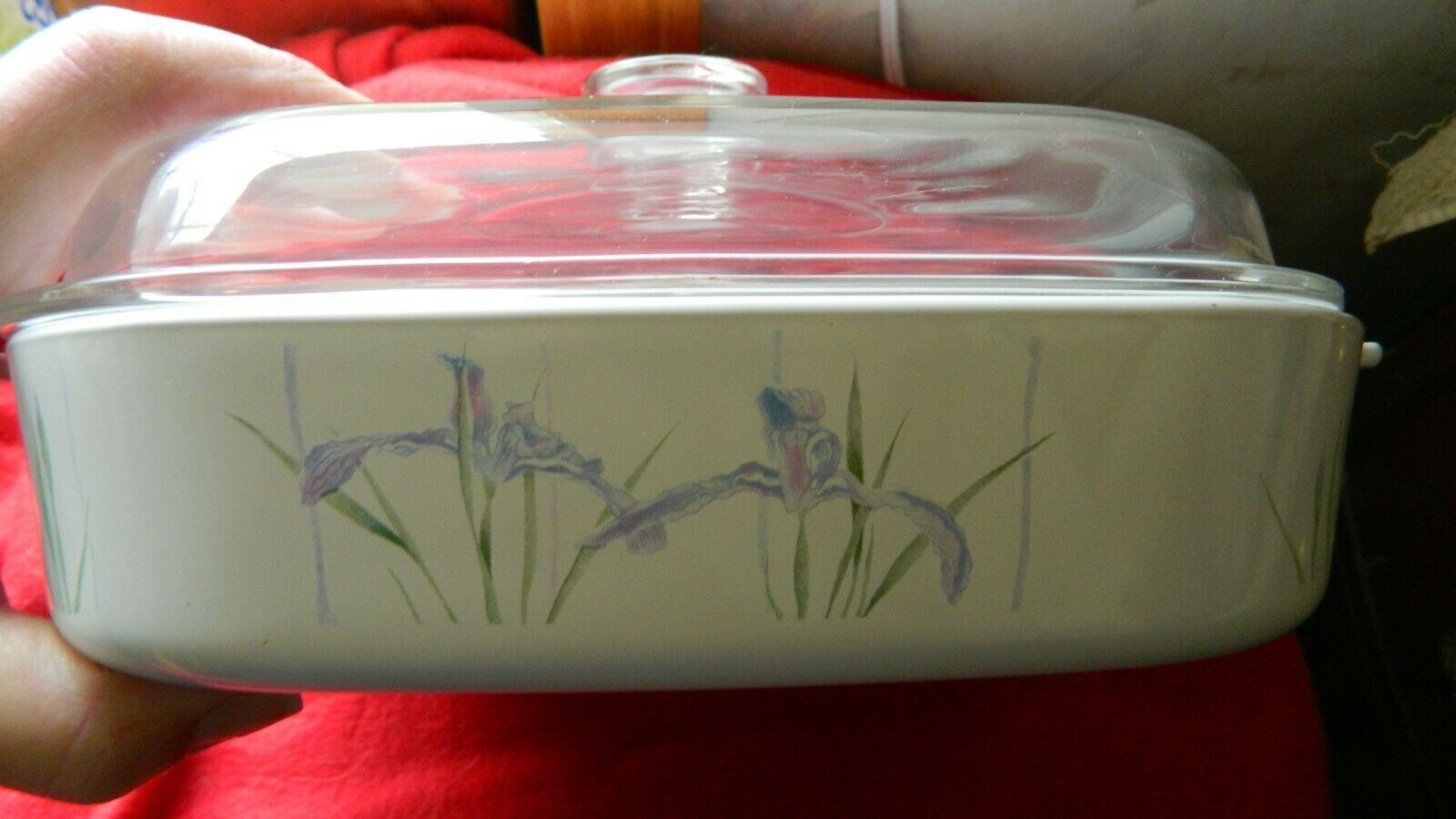 Primary image for CORNING WARE A-10-B SHADOW IRIS CASSEROLE 2.5 LITER WITH PYREX CLEAR LID